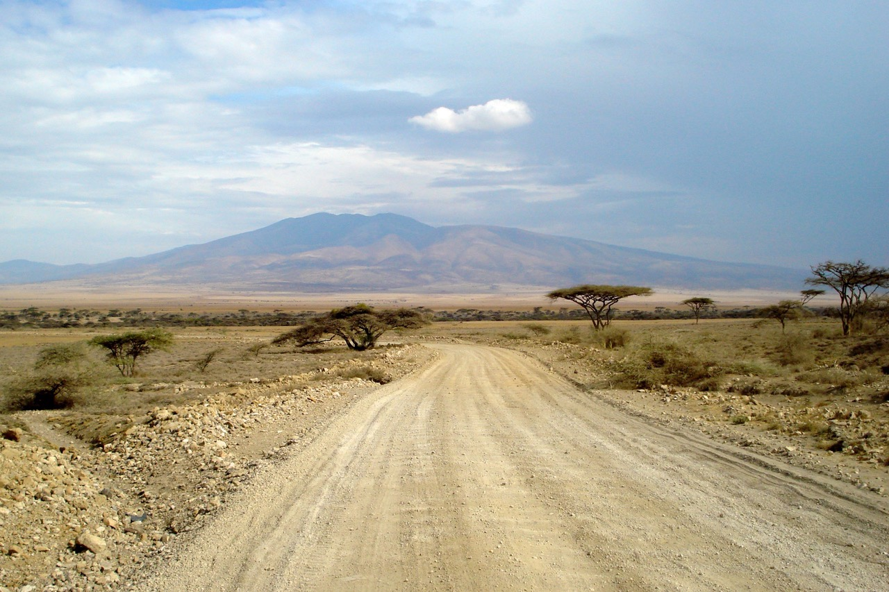 Landscape between Serengeti National Park and Ngorongoro Crater, Tanzania