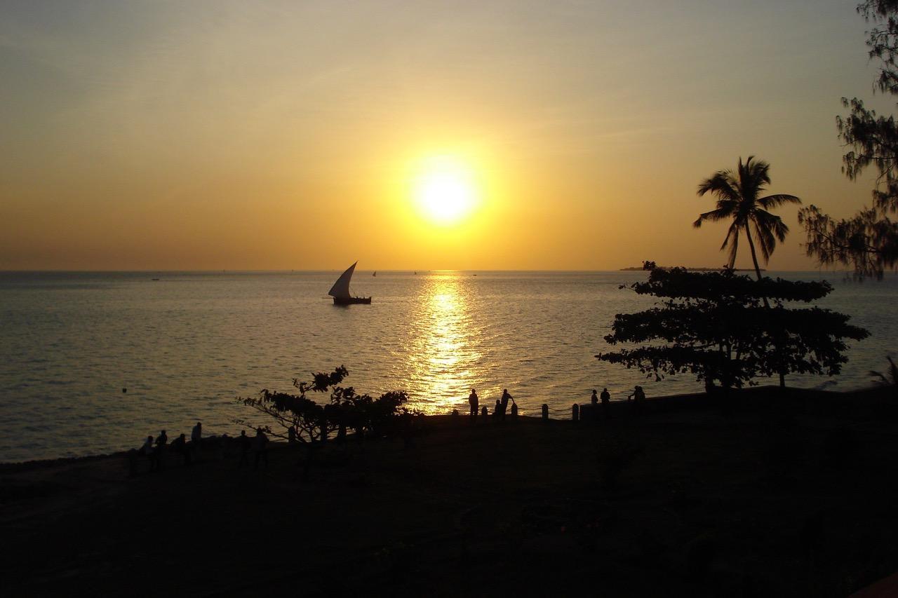 Breathtaking sunset at Stone Town, Zanzibar