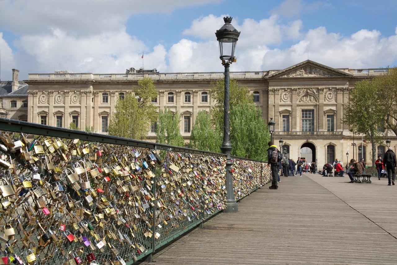 Love locks at Pont des Arts in Paris