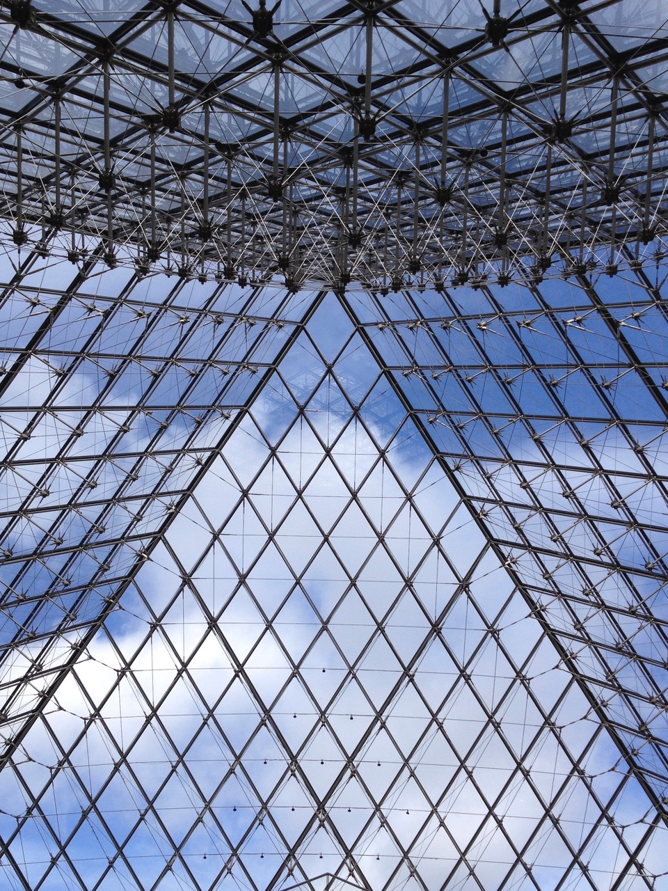 Top of the Louvre pyramid in Paris