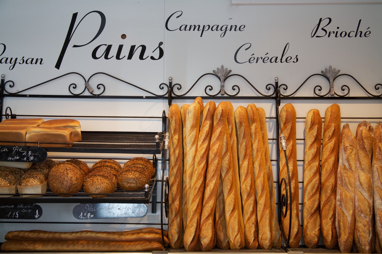 Pains in Boulangerie in Paris