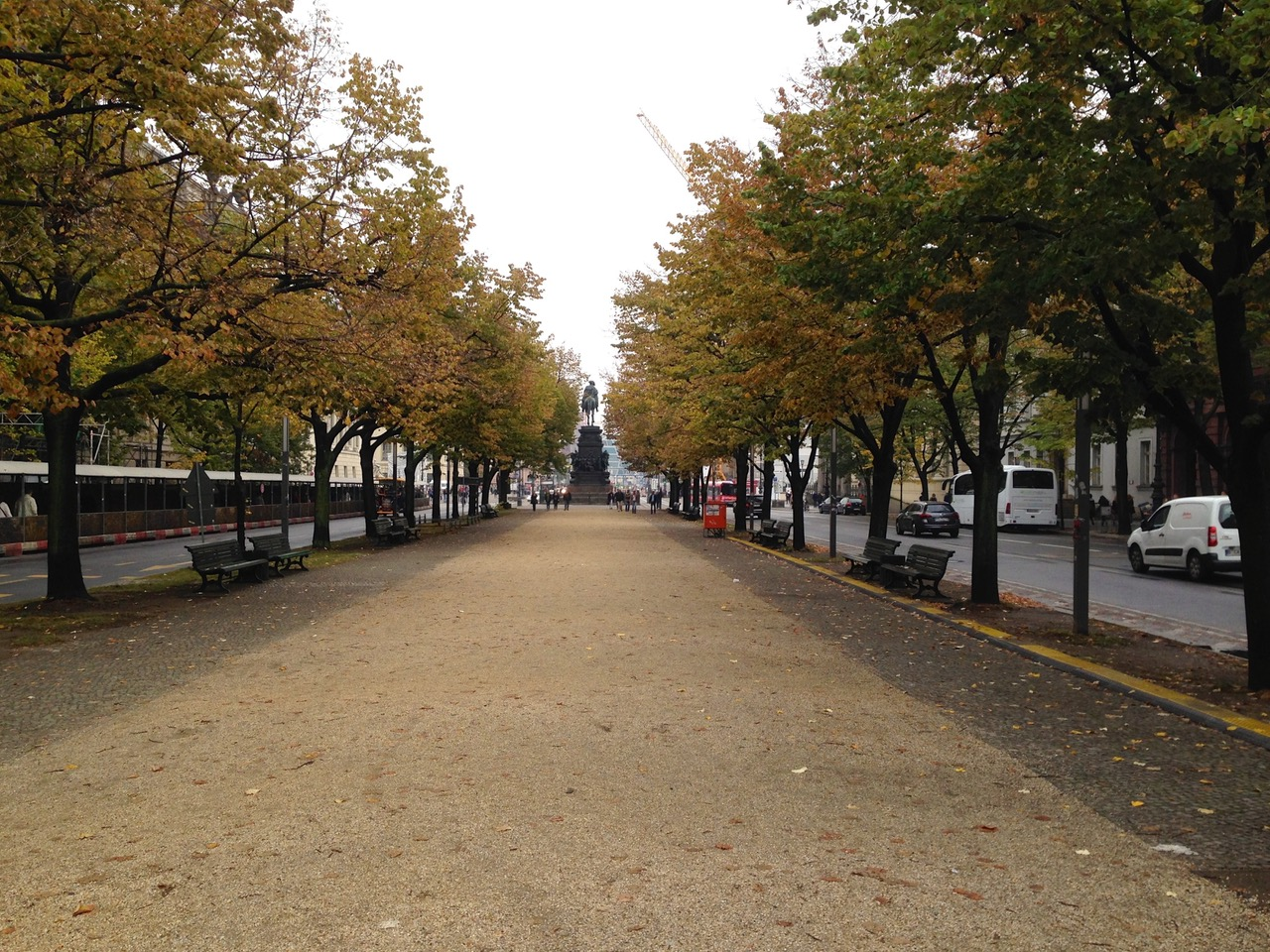 Taking a walk Unter den Linden in Berlin, Germany