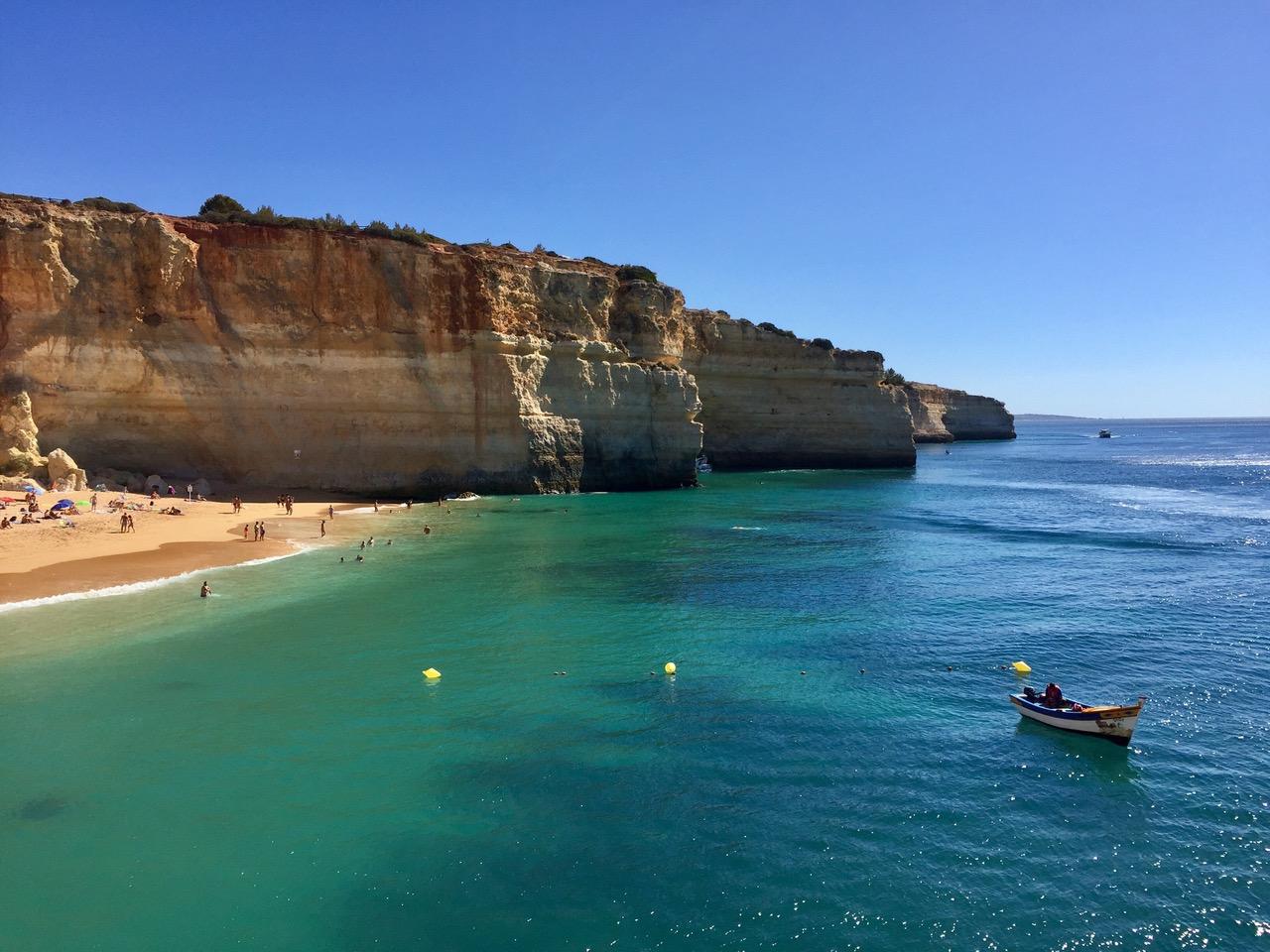 Beach and coastline of Algar de Benagil, Algarve, Portugal