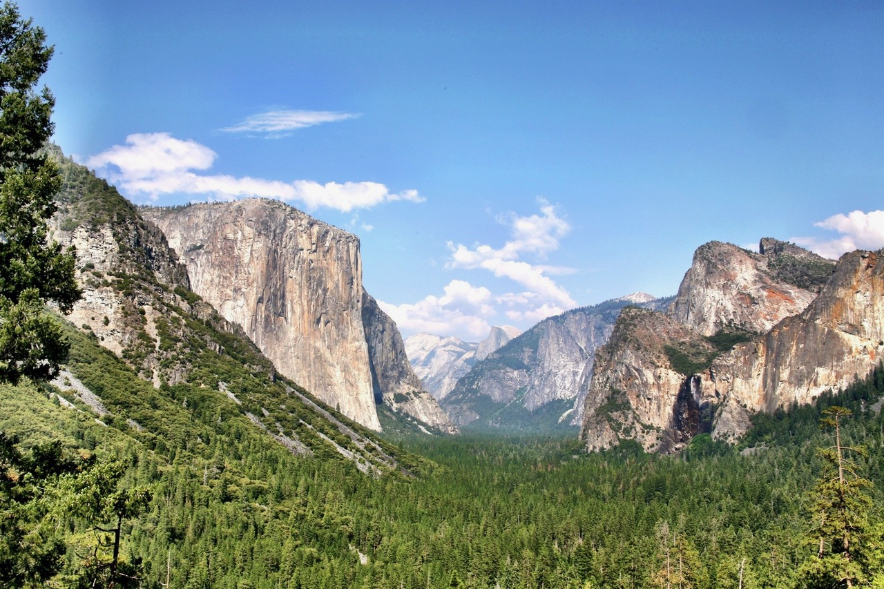 Yosemite Valley with El Capitan and Half Dome in the background