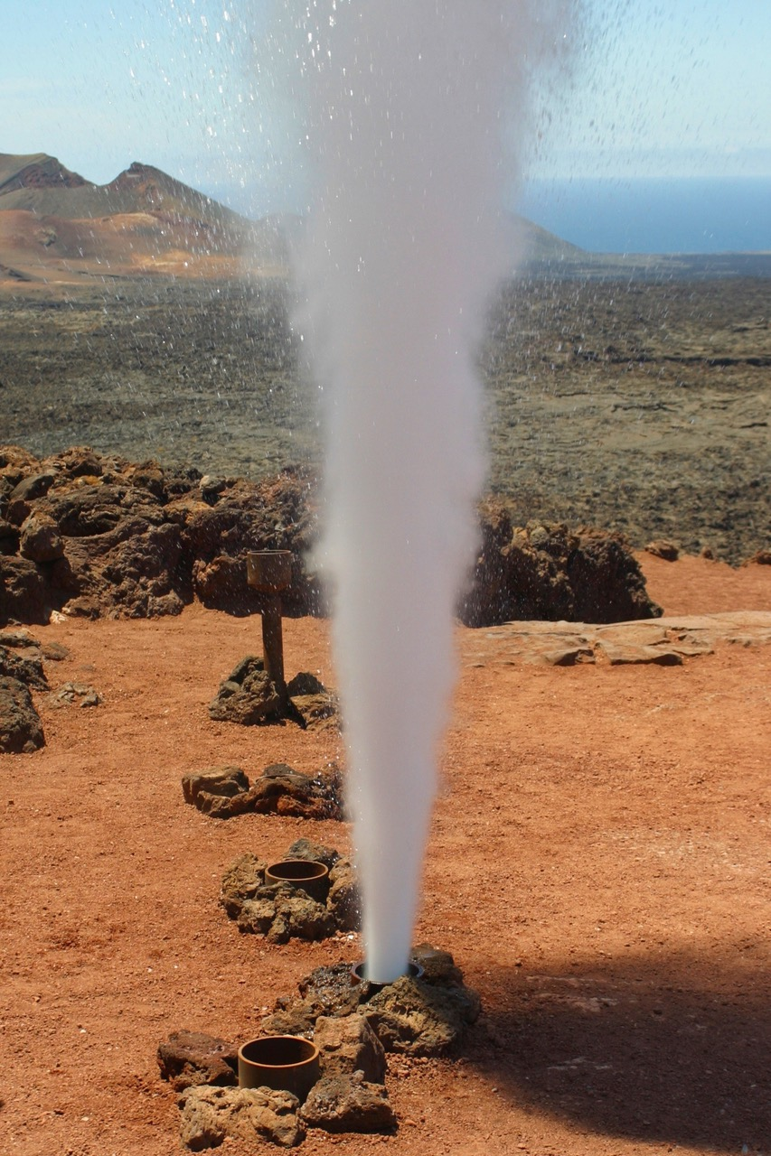 Geiser at Timanfaya National Park, Lanzarote