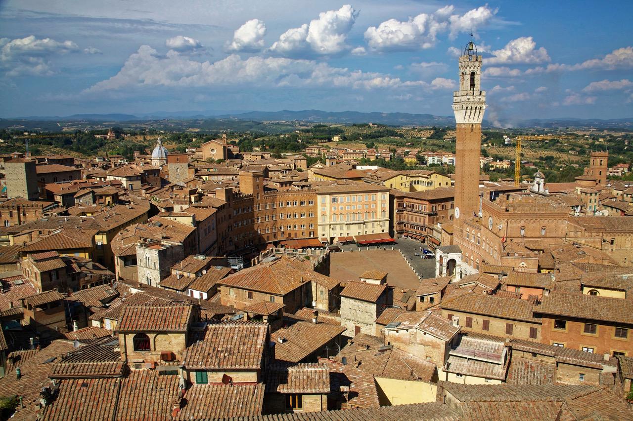 Piazza de Campo seen from Facciatone