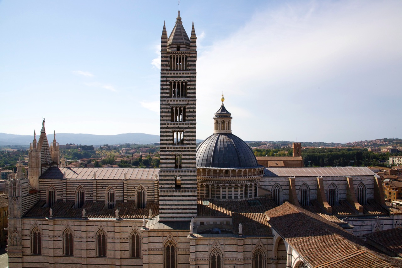 Wonderful view on the Duomo di Siena, Italy