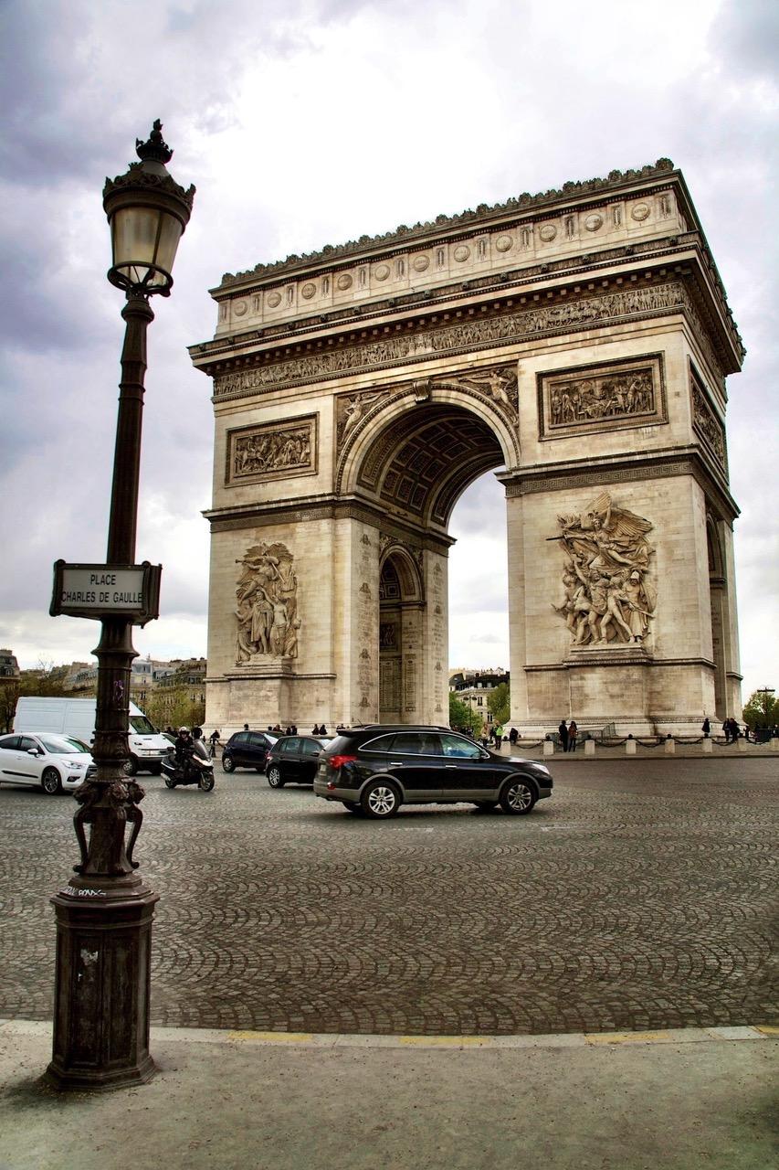 Arc de Triomphe at Place Charles de Gaulle in Paris