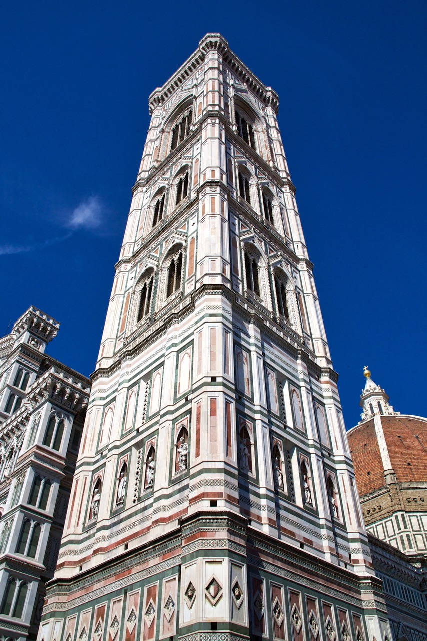 The tower of Florence Cathedral, Cathedral of Florence, Italy