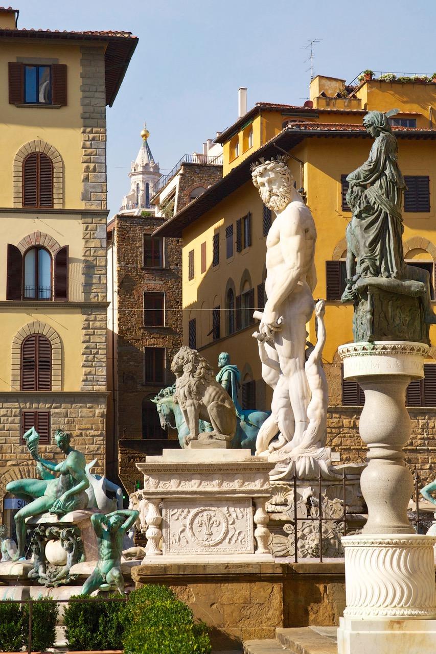 Neptune Statue at Piazza della Signoria in Florence, Italy