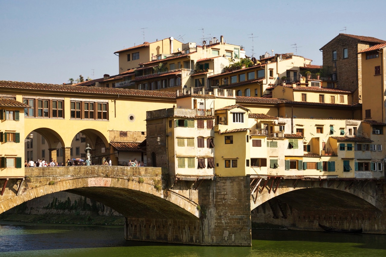 Close-up Ponte Vecchio in Florence