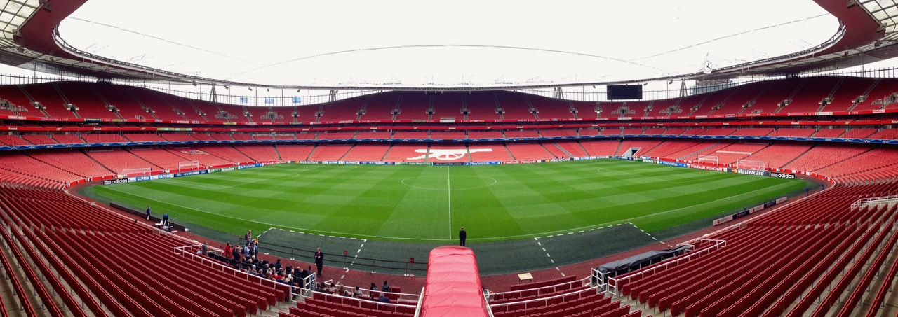 Arsenal FC - Emirates Stadium from inside, London
