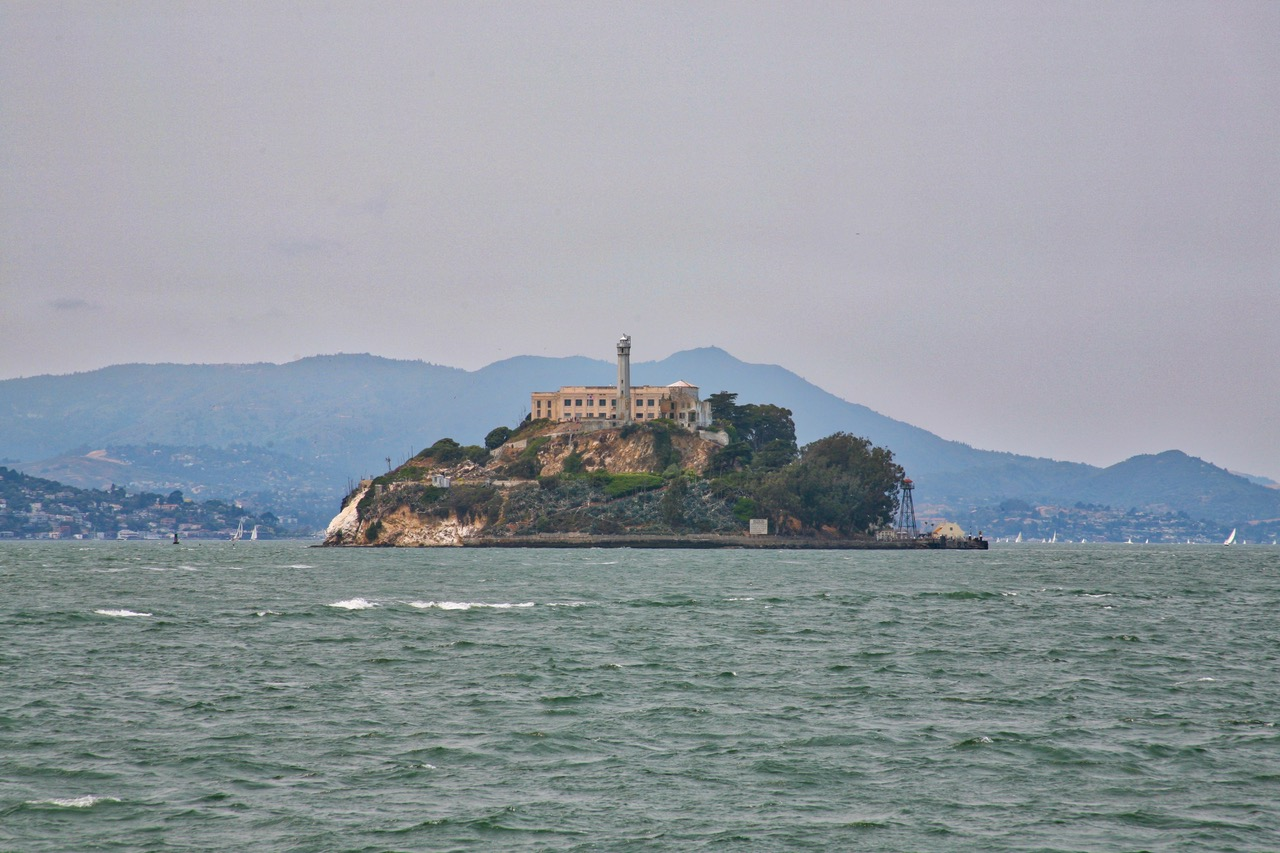 Alcatraz seen from the water
