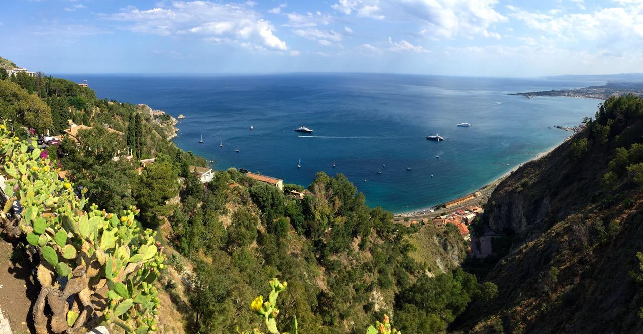 Panorama view from Castelmola, Sicily