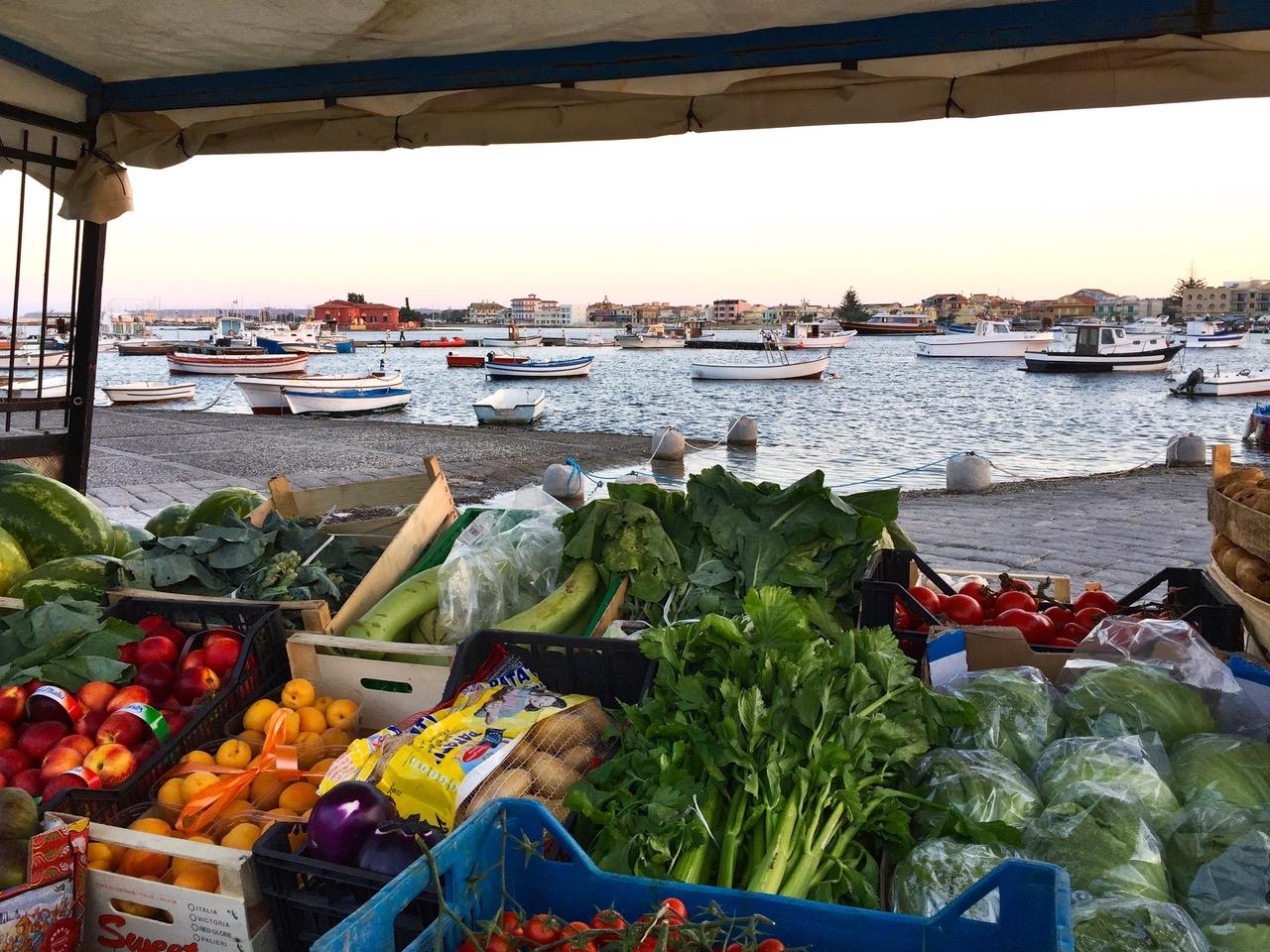 Market in Marzamemi, Sicily