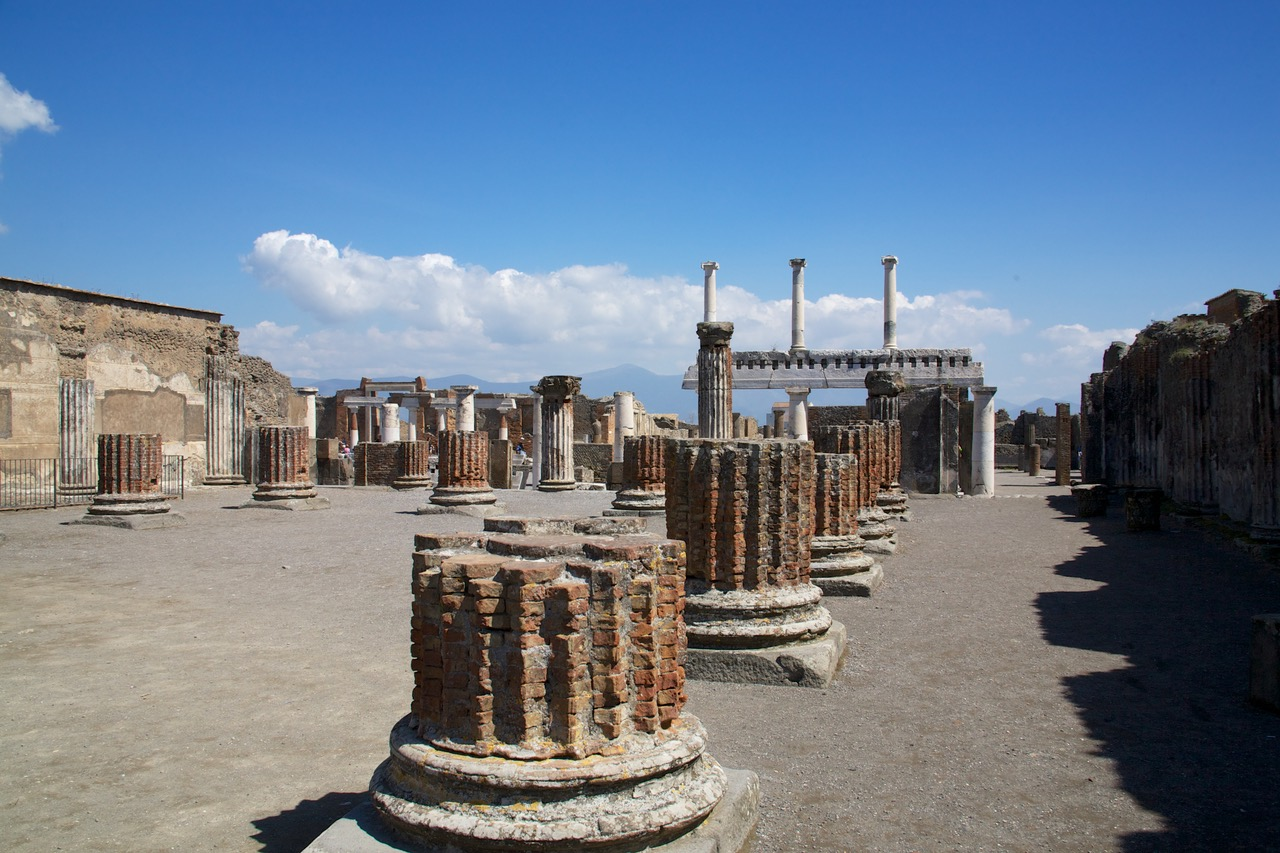 The library at Pompeii, Italy