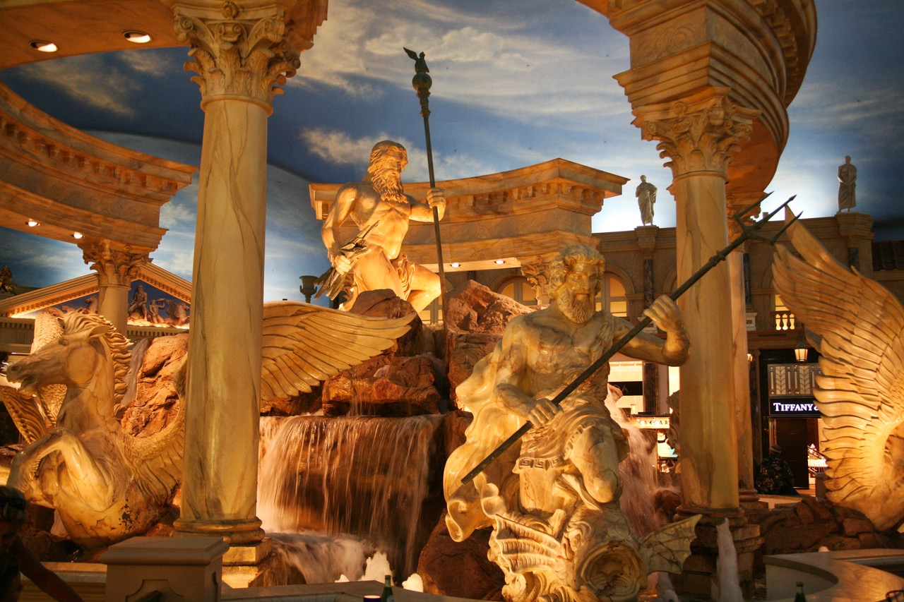 Inside the Caesars Palace in Las Vegas
