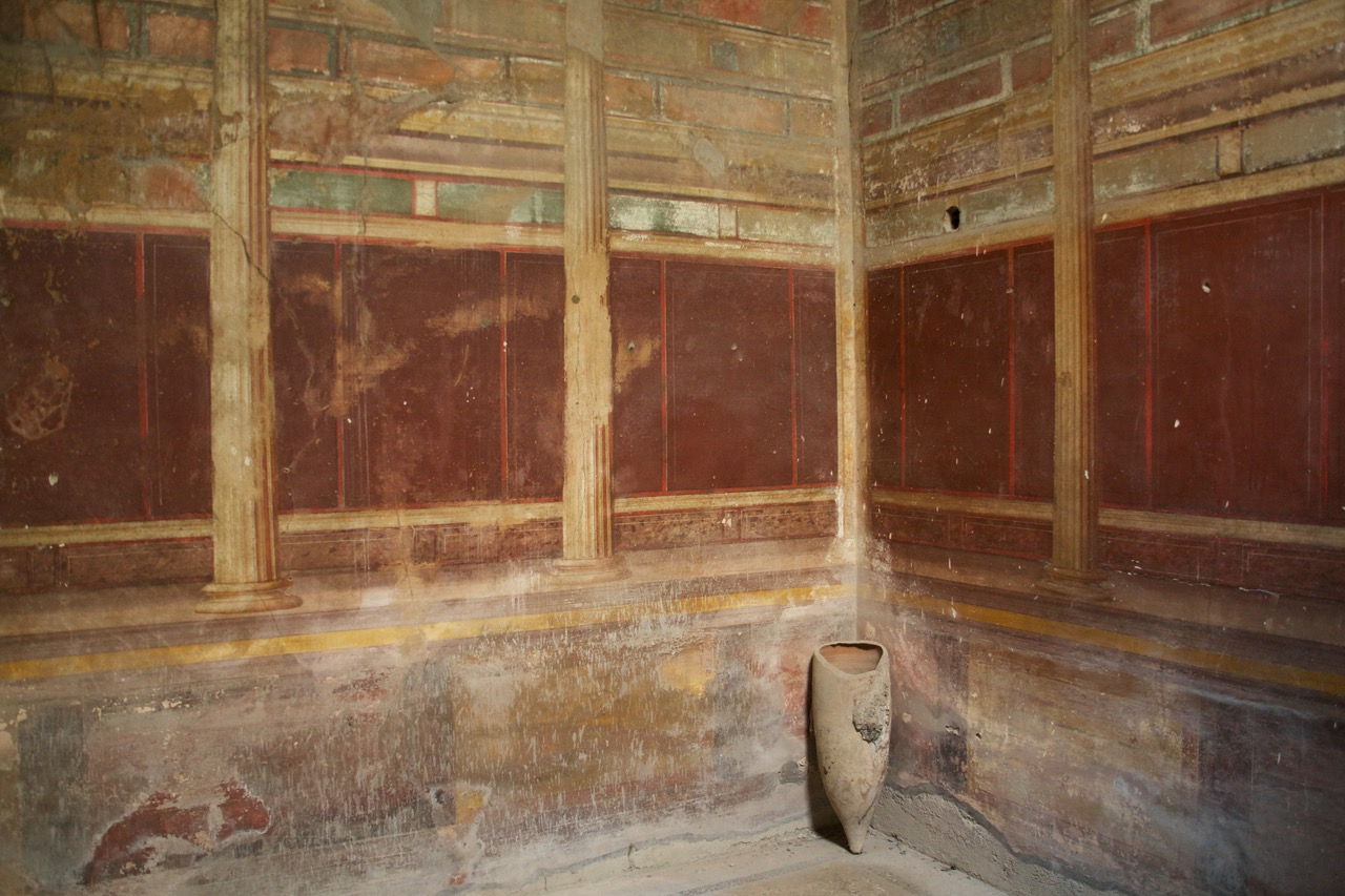 Inside a house in Pompeii