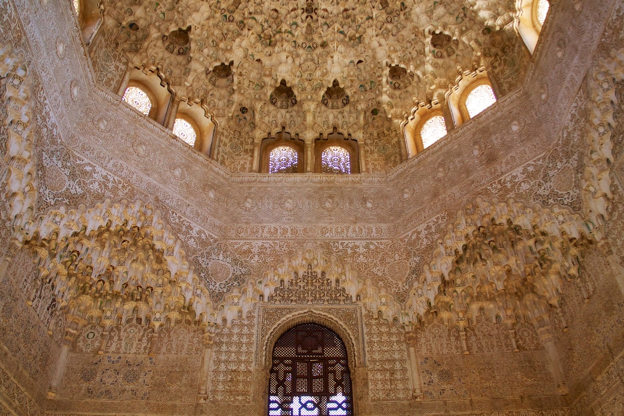 The Hall of Two Sisters in the Nasrid Palace, Alhambra, Granada