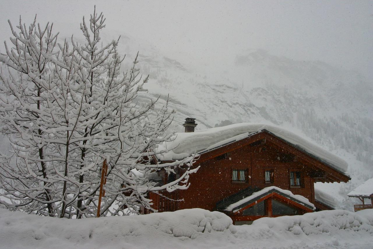 Fresh snow in Tignes