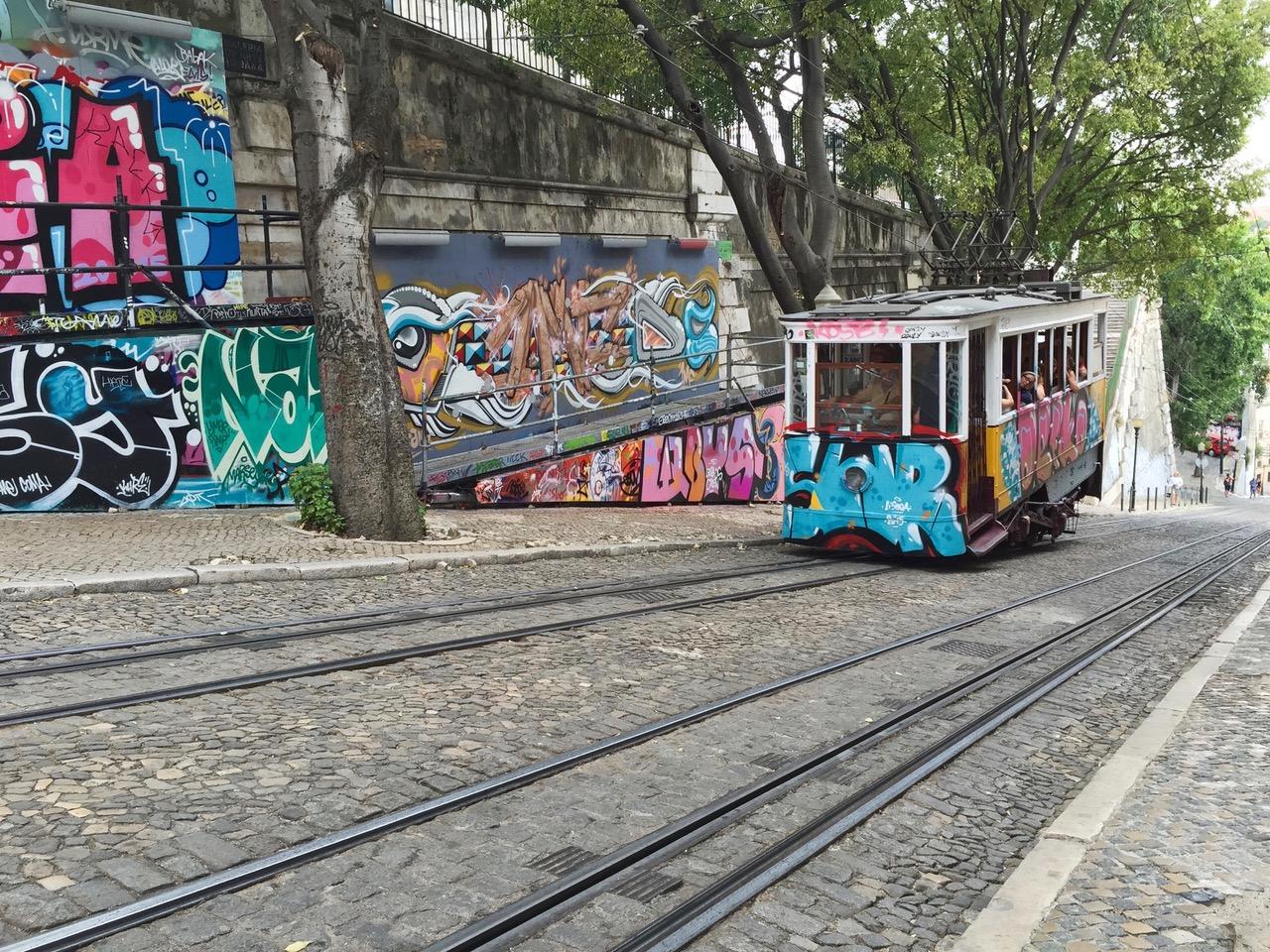 Typical Lisbon tram