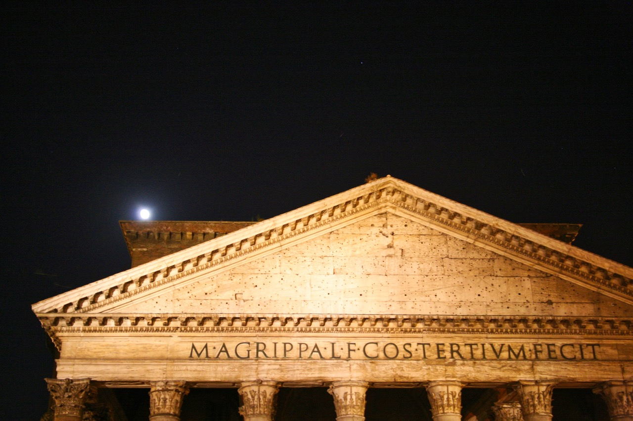Moonlight over the Pantheon in Rome