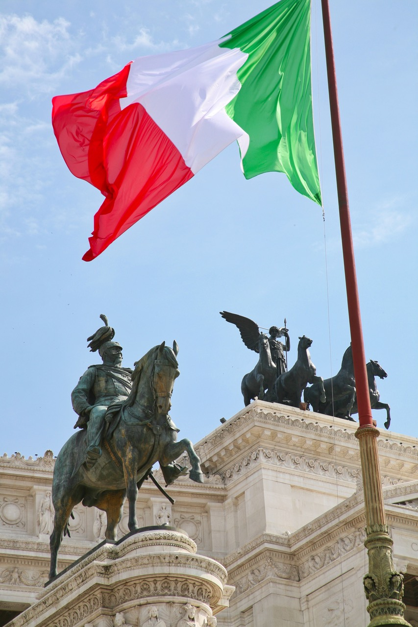 The Monument of Victor Emmanuel II in Rome