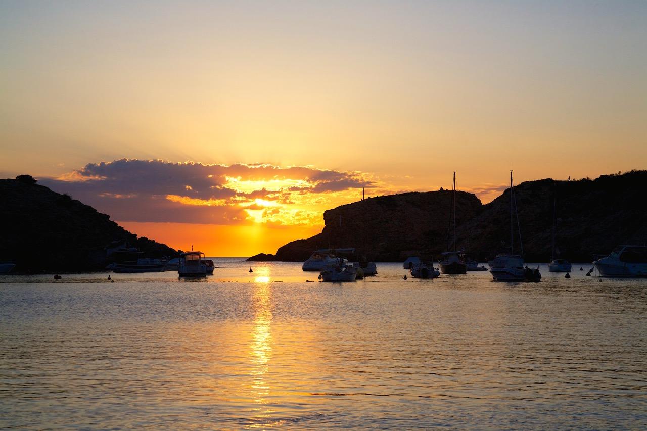 Cala Vadella Ibiza sunset
