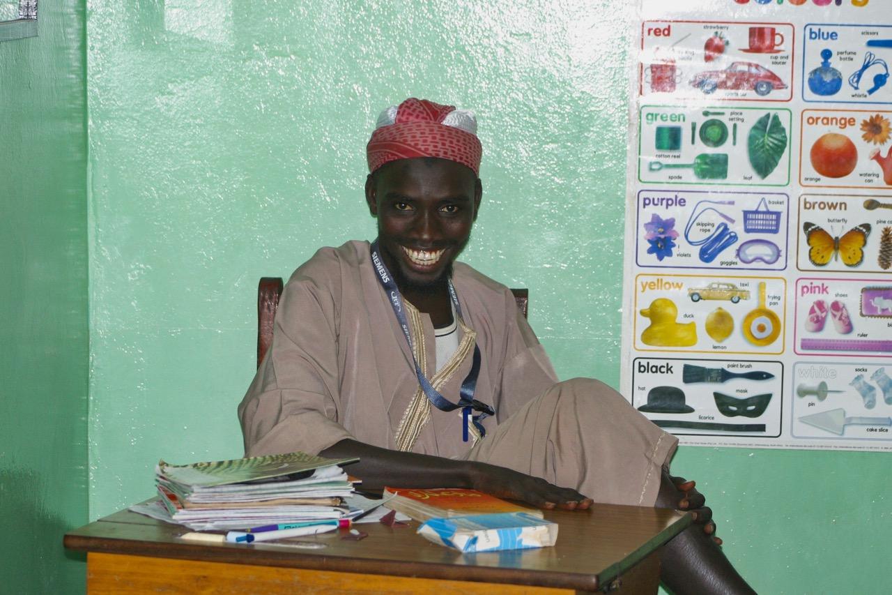 Teacher at Jarjou Memorial Nursery School in Gambia