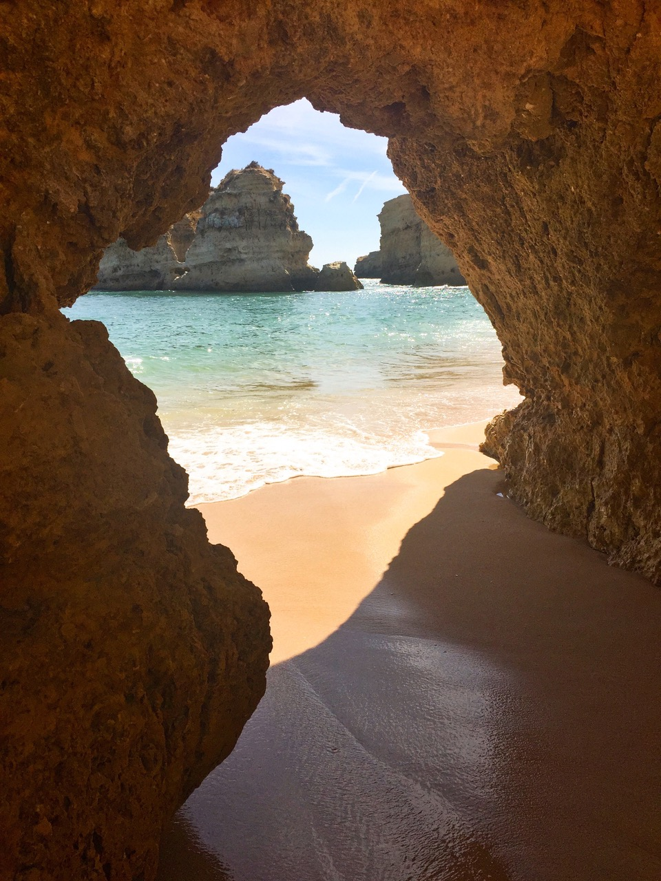 The beach of Praia de São Rafael, Algarve, Portugal
