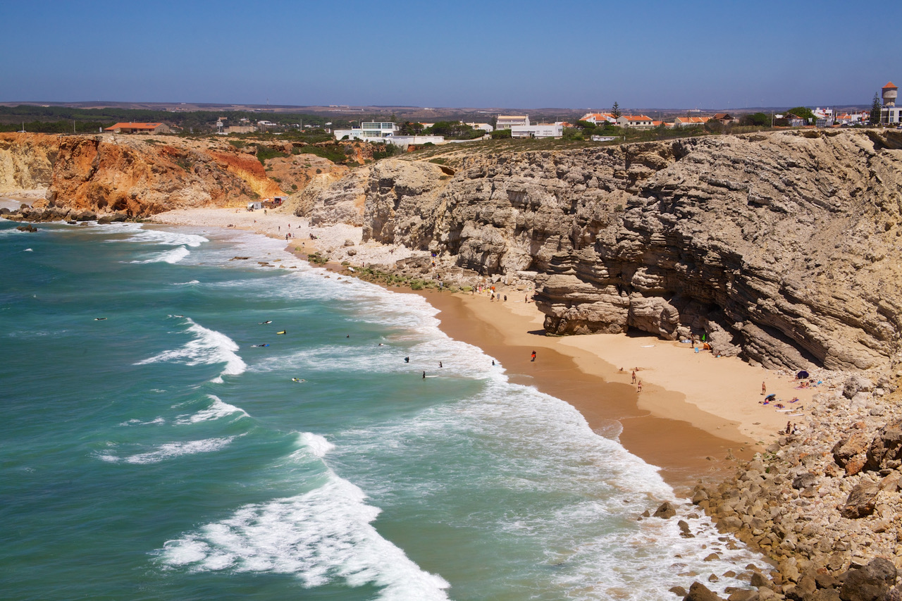 Sagres, waves and beaches, Algarve, Portugal