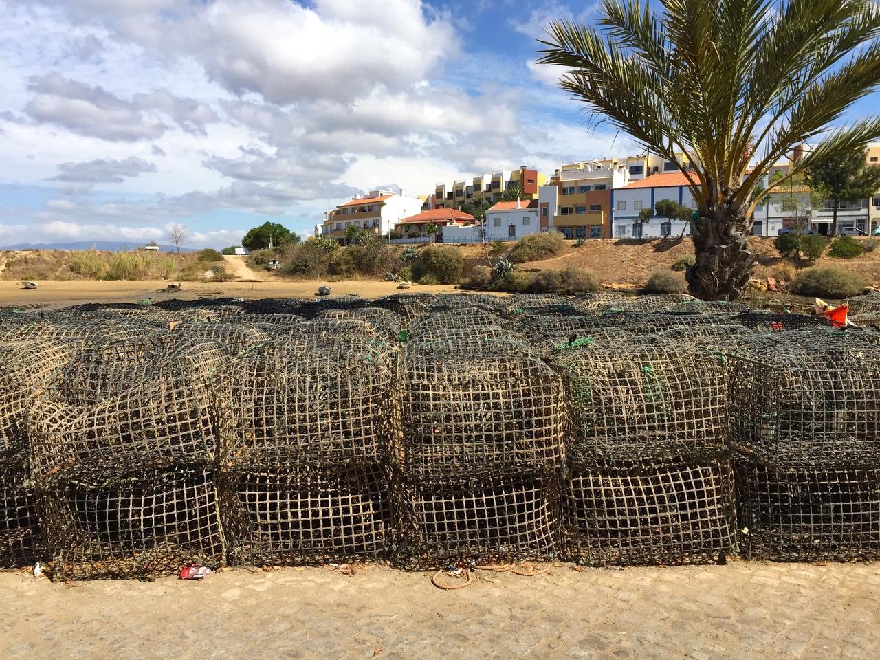 Ferragudo harbor, fishing village in Algarve, Portugal