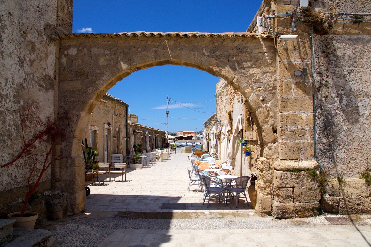 The beautiful streets of Marzamemi, Sicily
