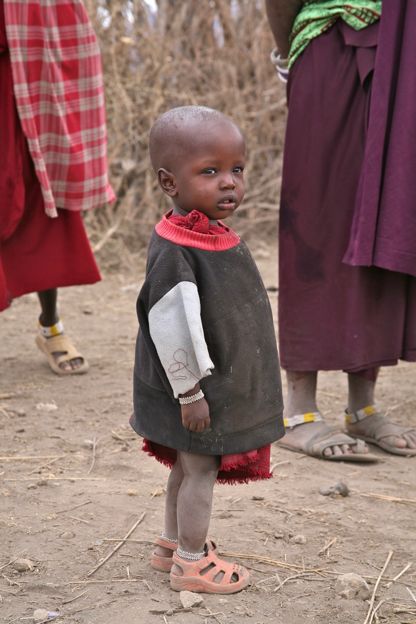 Lovely little girl at a little Maasai village near Lake Manyara, Tanzania