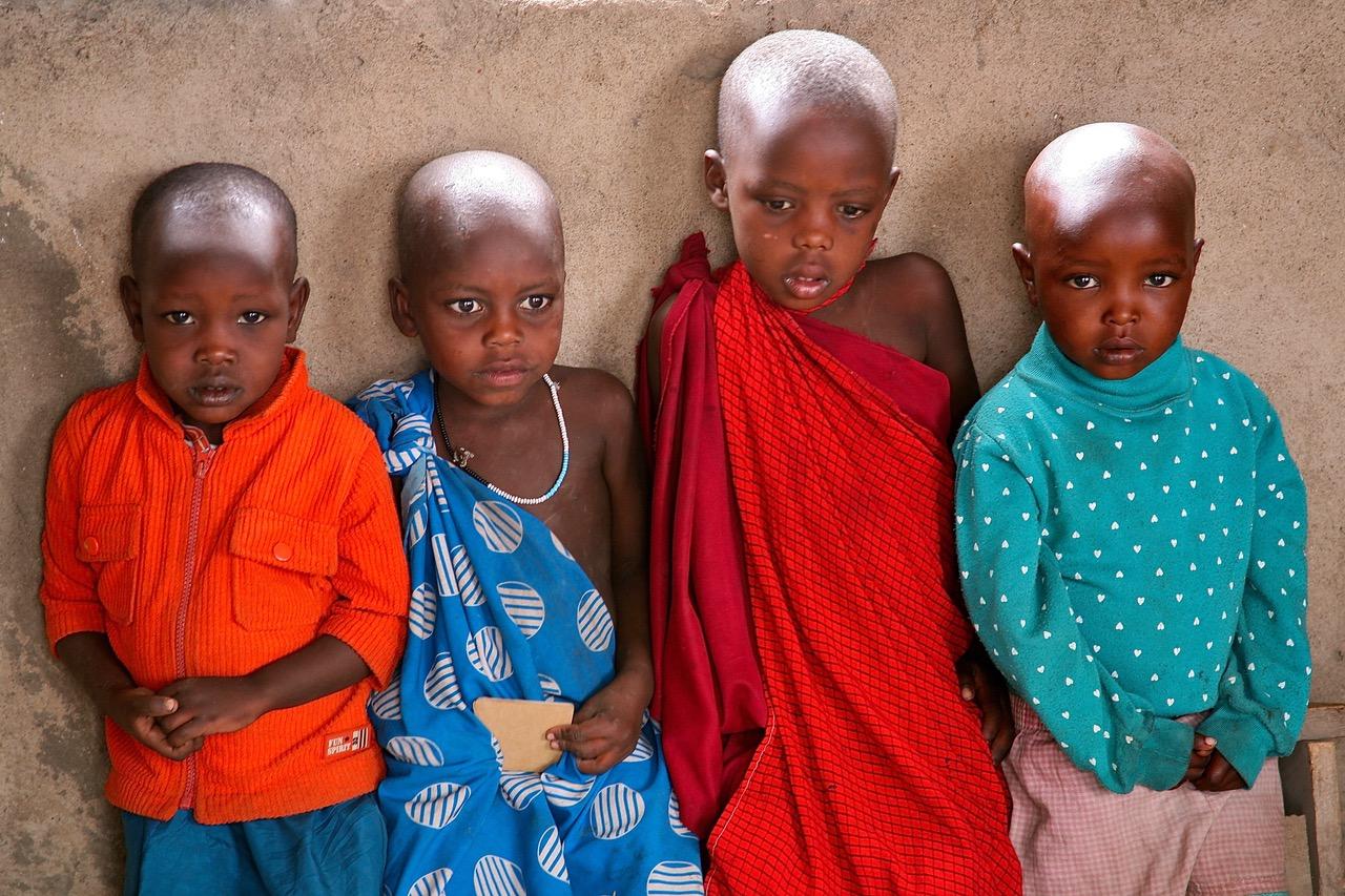 Masaai kids at school neat Arusha, Tanzania