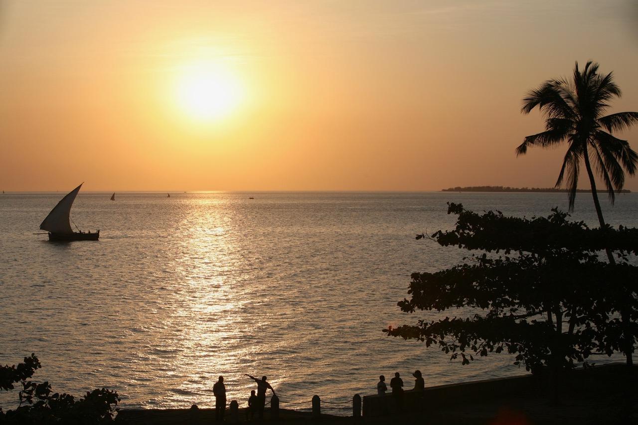 Stone Town sunset Zanzibar