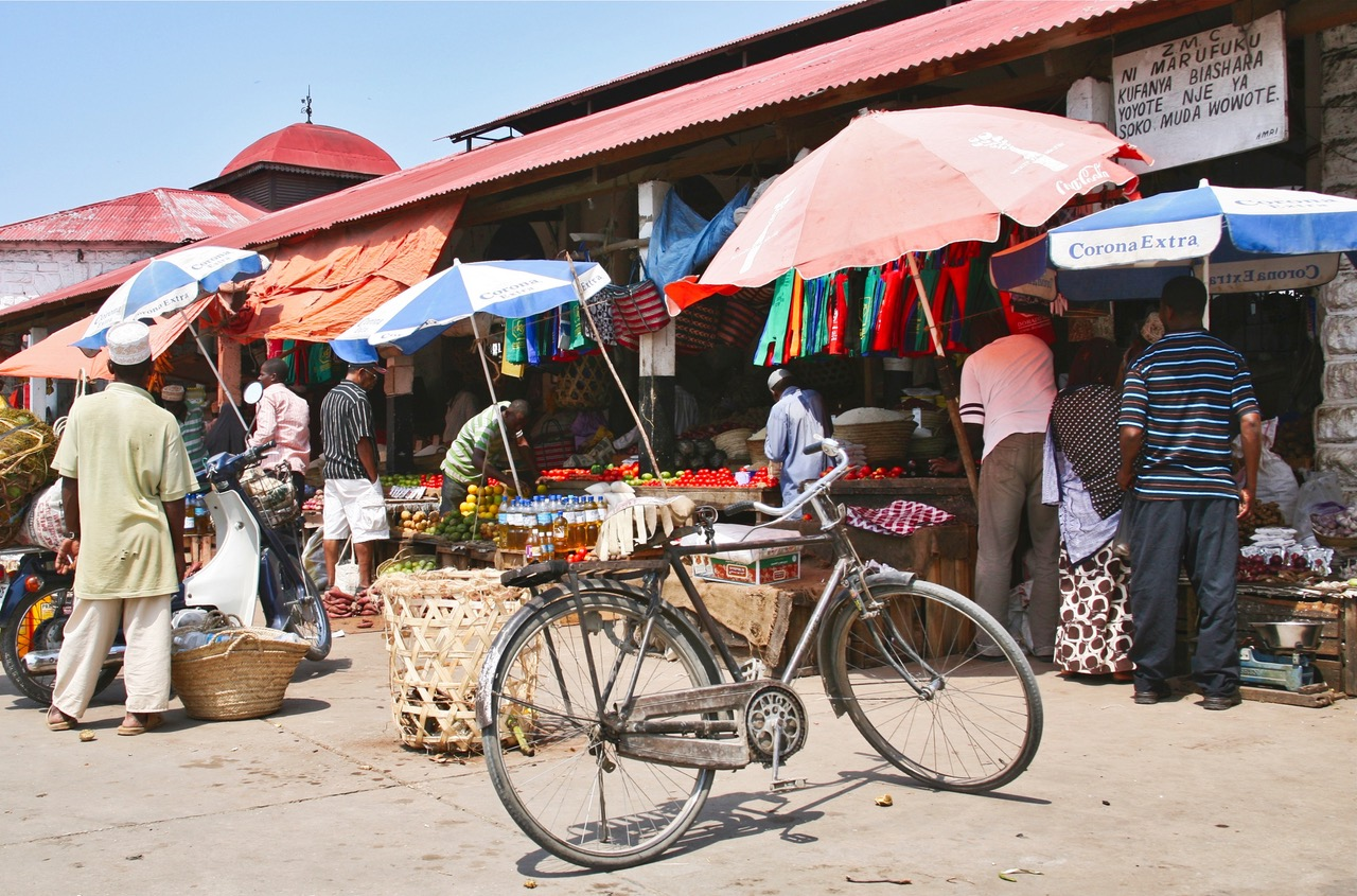 Local market in Stone Town, Zanzibar