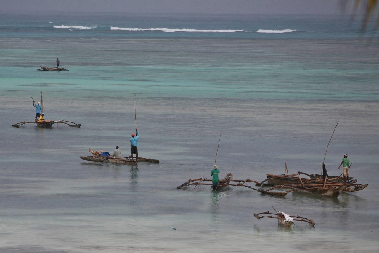 FIshermen at work in Dongwe, Zanzibar