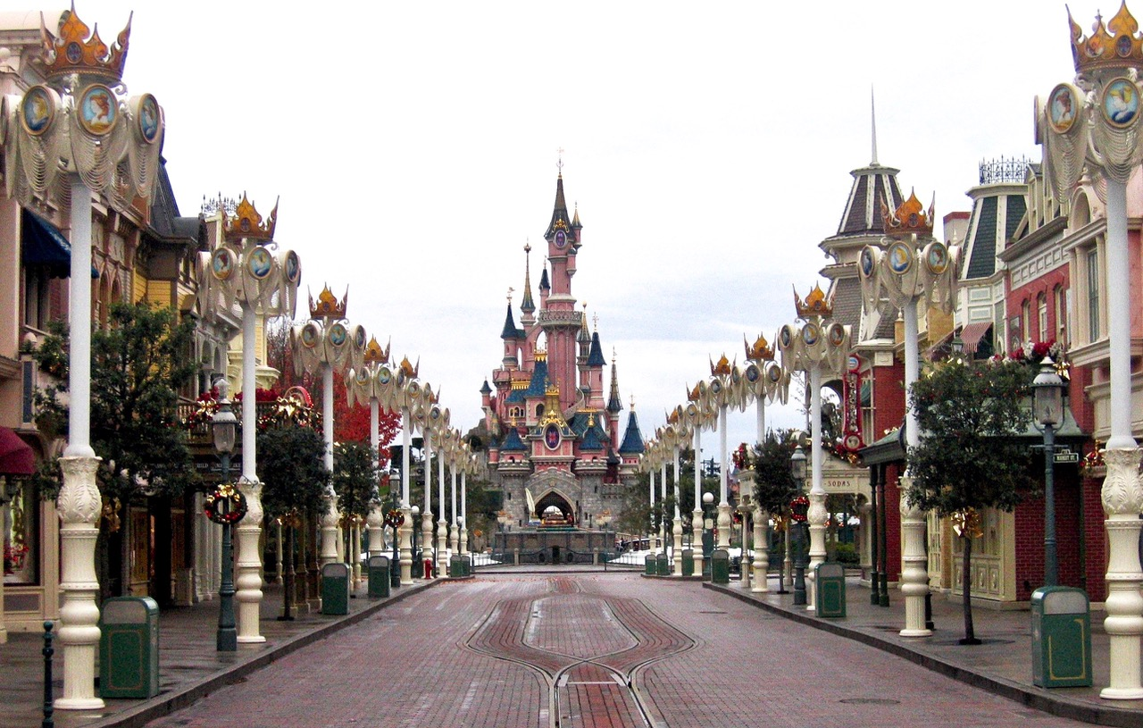 Disneyland Paris before the crowd comes in