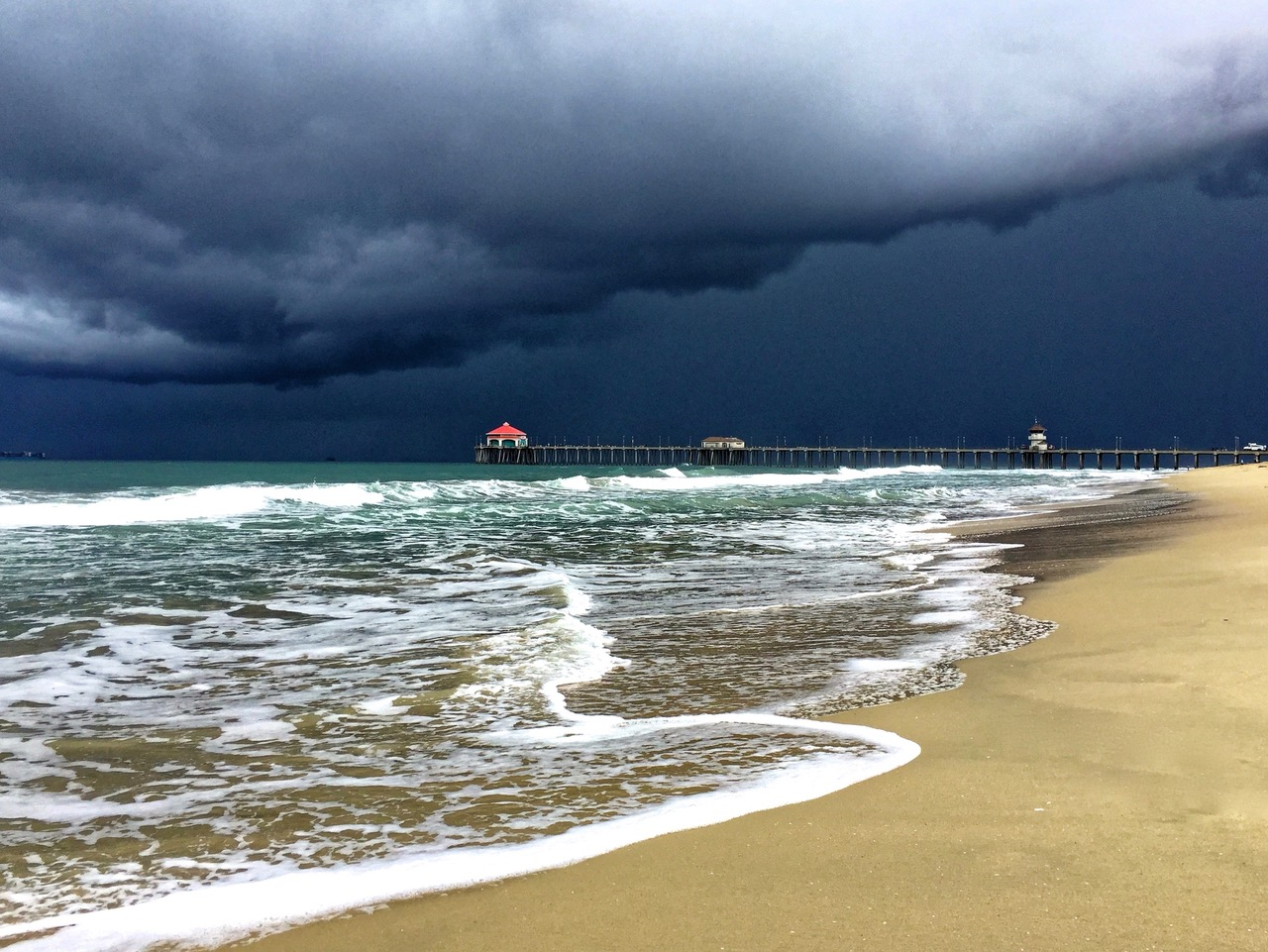 Just minutes before hell broke loose in Huntington Beach, California