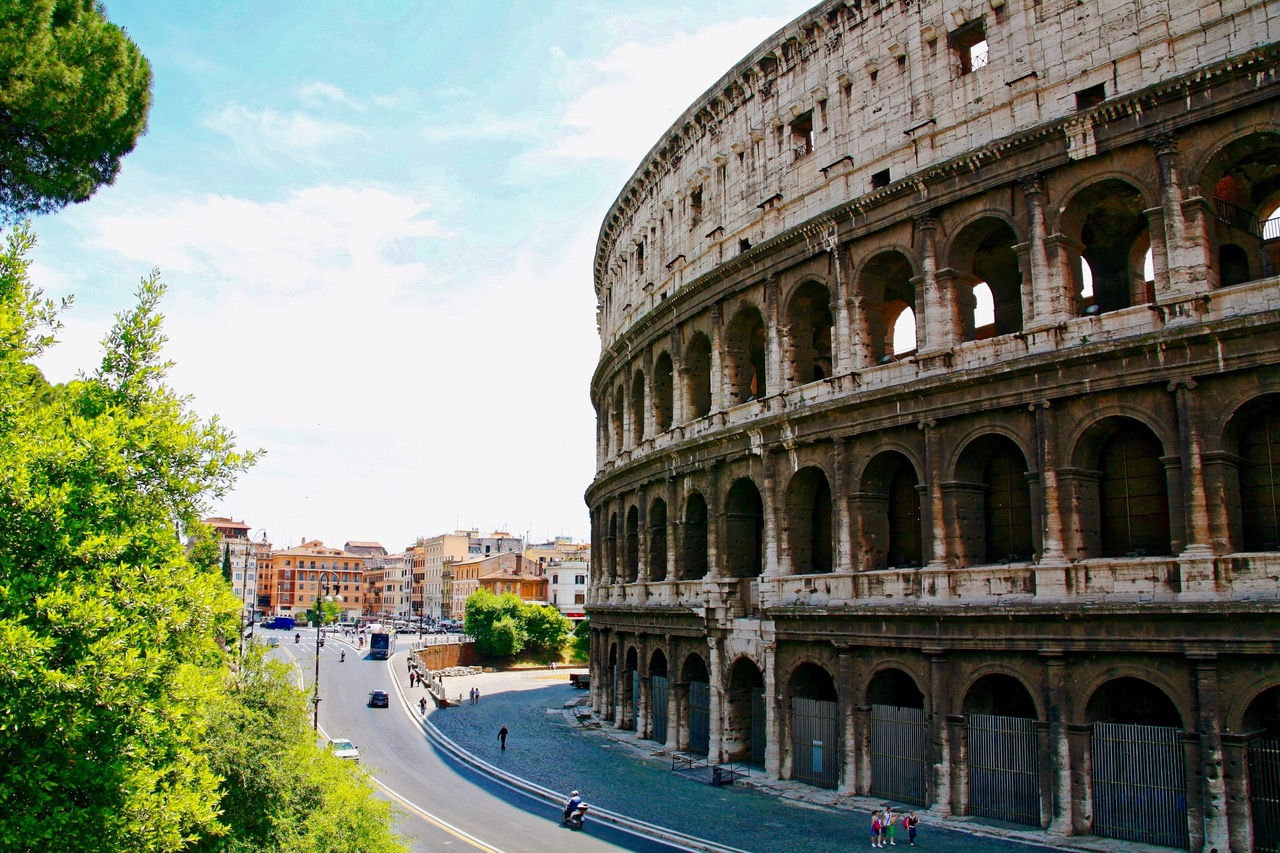 Wandering the Piazza del Colosseo in Rome, Italy; NiceSpots2Go