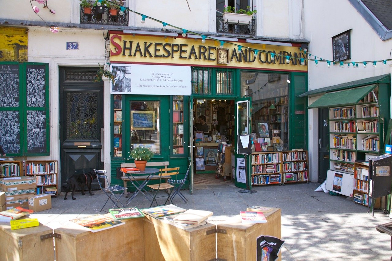 Famous Bookstore Shakespeare and Company in Paris
