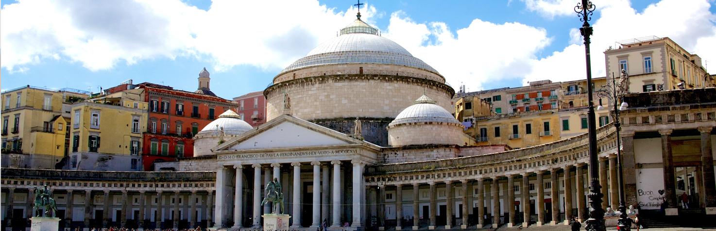 Basilica San Francesco di Paola, Piazza del Plebiscito in Naples, Italy
