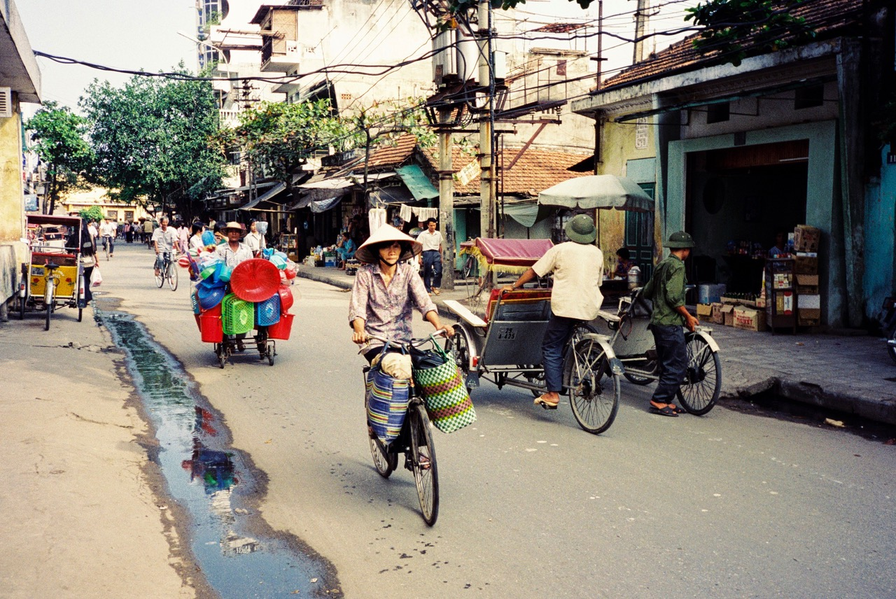 Activity in the streets of Hanoi