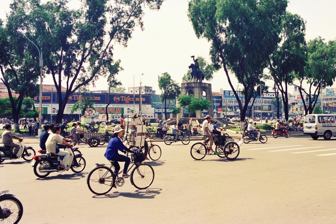 Busy streets of Ho Chi Minh - Saigon, Vietnam