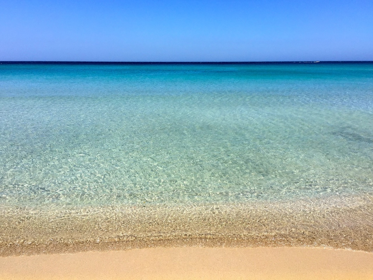 The blues of the Ionian Sea, Sicily