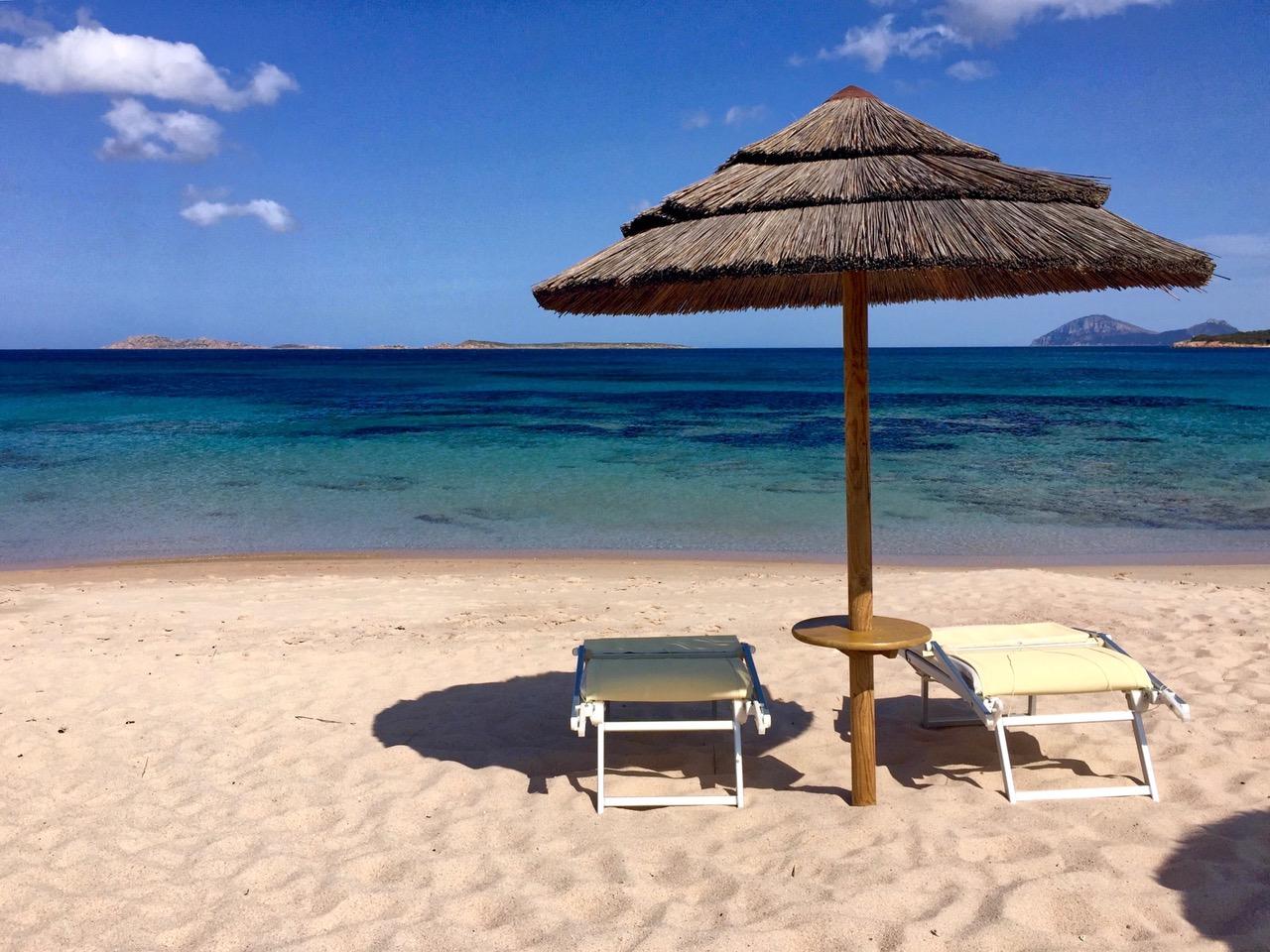 Beach Baia Romazzino, Sardinia, Italy