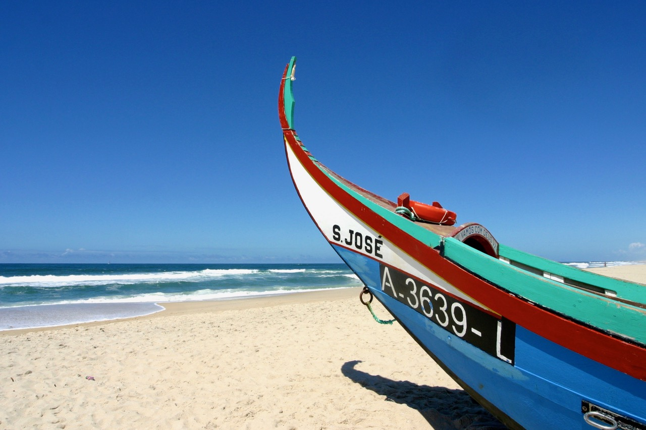 Beach Figueira Da Foz, Portugal