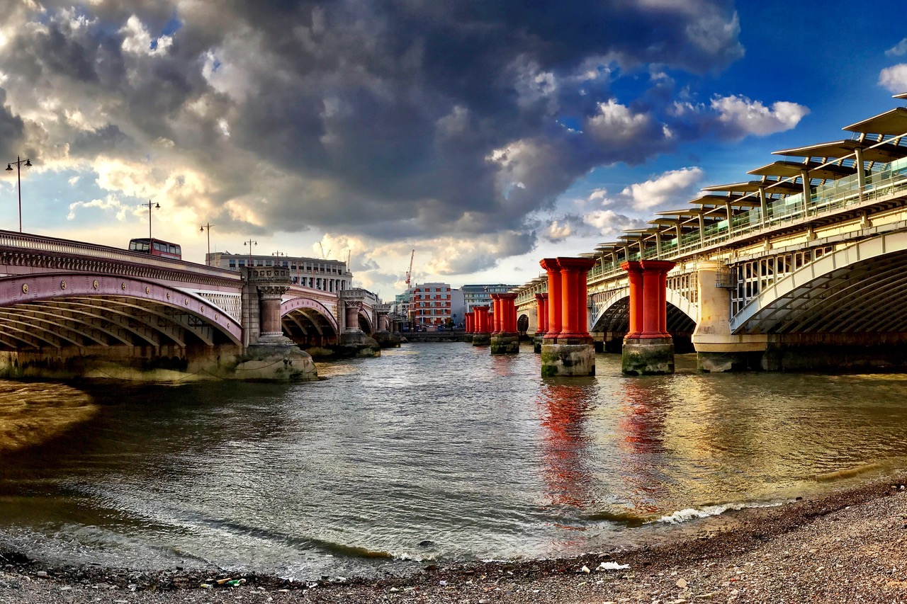 Blackfriars Bridge, South Bank, London