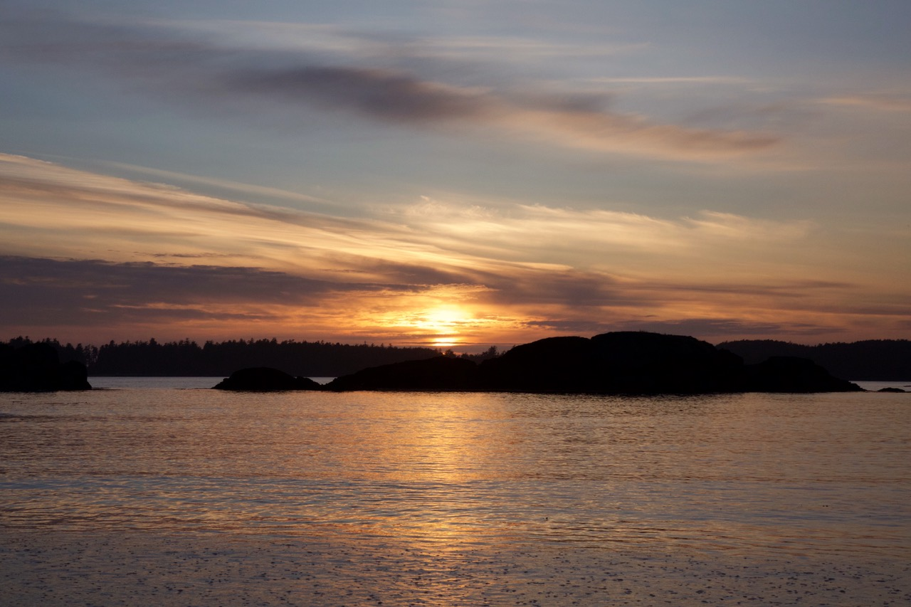 Mackenzie Beach, Vancouver Island, sunset